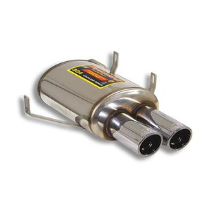 Rear exhaust Supersprint  LEFT 2X90mm