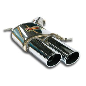 Rear exhaust Supersprint left 2X100mm
