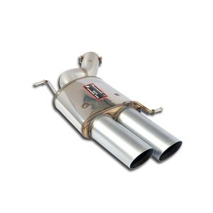 Rear exhaust Supersprint Racing left 2X100mm